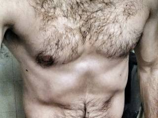 Sexy hairy body you have there....Keep posting. :-)