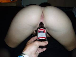 fucker her with beer bottle