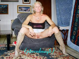 I like to fill that pussy when you are wearing those boots