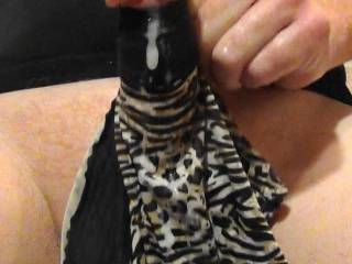 Jerking my hard cock with GF\'s panties! Love pumping hot cum on them while on Zoig cam chat!