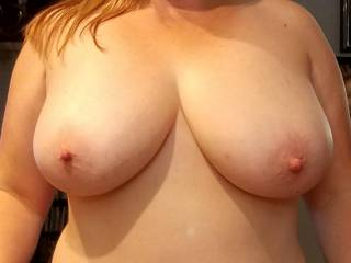 Hubby wanted a close up of my boobs...