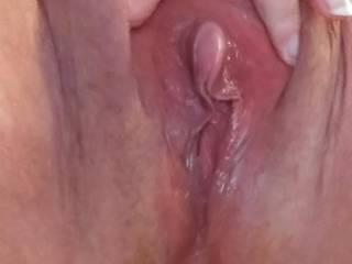 Up close juicy granny pussy.  Would like grinding it against another wide open wet pussy or having someone finger, eat and fuck it...after the pandemic, of course!  lol