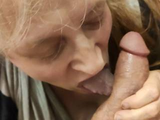 Lick that hard, thick cock to get every last drop of that delicious cum. I love milking a cock with my mouth. Mmm...