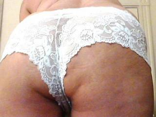 My new white panties & a show of my old tasty cakes.