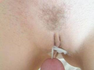 Her pussy looks even sexier with your cum squirting on it.
