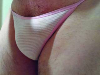 Getting to play in these soft VS thongs these always get me hard.