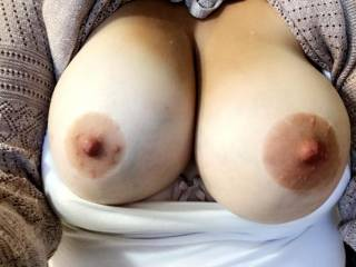 Looking for a lady that wants my big titties in her face! I want you to rub my nipples and suck on them with your soft wet tongue!