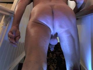 Rear view shot as I walk upstairs to play some naked games, care to join me ?