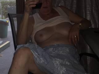 Johanne  wine & getting horny