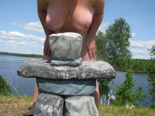 """I have no idea what an """"Inukshuk"""" is...I do know large tits though....Beautiful!"""
