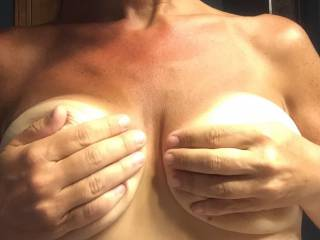 It would be an honor to be the one to pleasure you beautiful tits for as long as you commanded.
