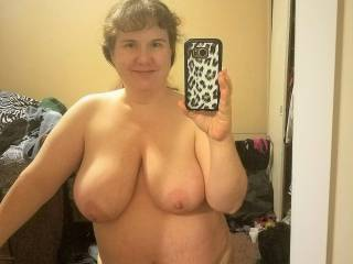 My big tits. Want to suck them or fuck them?