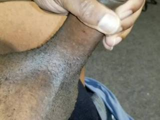 Dripping precum....when you coming thru to let me slide this BBC deep inside?