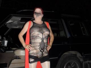 Hi again just had to do it, out for a drive and just had to feel the cool night air on my skin, what do you think? comments welcome mature couple