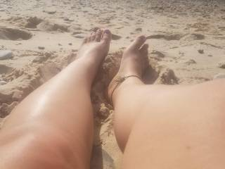 Sexy beach legs