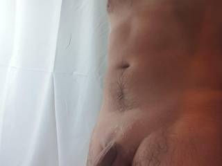 Showered, shaved, smooth ready to be kissed licked, sucked and titty fucked