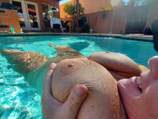 Naked sexy fun in the pool today!