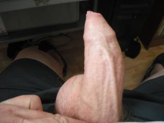 I find that vein running down the middle of your cock to be very sexy!