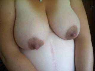 I would love to get my mouth on her nipples. You would have to beat me off with a stick.