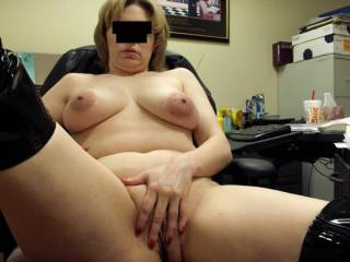 pic she sent me begging me to come to her office and fuck her on her desk after work