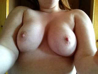 Mmmmmmmmmmmmmm..;) You have some very beautiful and luscious breasts..;) Would lovve to firmly grasp them together and caress and suckle them until you can no longer take it and begin to beg for my hard cocked and full of a hott load or two;)  Get in touch;)
