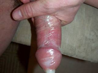 GREAT PIC !!!  Love to see your cum in a condom!!!