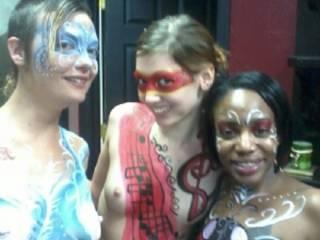 Mardi Gras backstage girls!