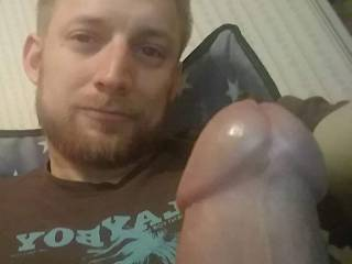 Just a pic of me chillin with my cock in your face.