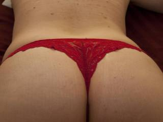 hot ass in a red thong