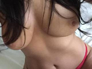 Sexy all natural tits. Whom likes em?