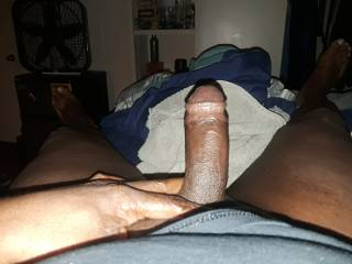 Ladies here\'s a hard dark cock for your pleasure