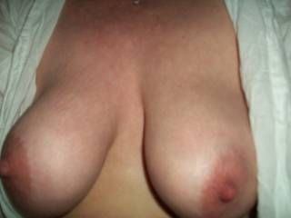 Luv to feel her huge juicy tits wrapped around my thick cock squeezing him tight and draining my balls dry!!!