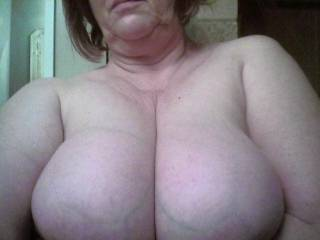 awesome tits  so soft and round I can see why you love the pic
