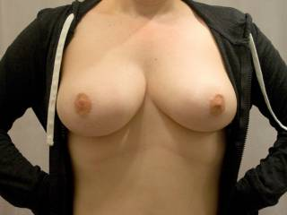 GREAT TITS!  I love to be fondling them and sucking on them.