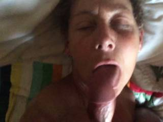 Such a beautiful sexy wife and the cum looks so hot on her beautiful face thanks for sharing.