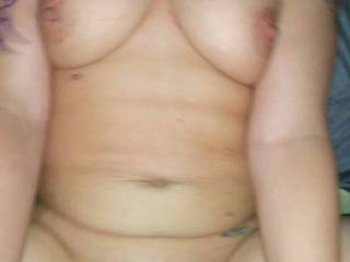 Sweet tits, tight little pussy and nice cock. Great pic.