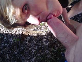 Cuming in gaping pussy