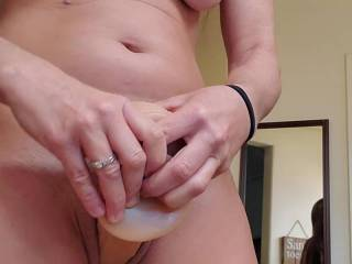 Enjoying another ride on my sex station, watch how my nipples grow as I start to cum!