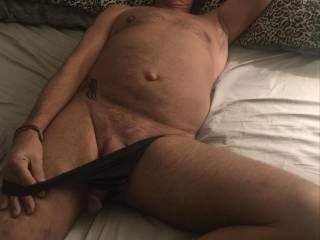 Walked into the bedroom, and my Baby wants to play!  Hmmmmm... he\'s the best... I can\'t ever turn down his throbbing hot cock!