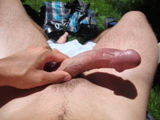 Mmmm, be nice to feel that gorgeous cock sliding in me on a nice sunny day in a park somewhere!!