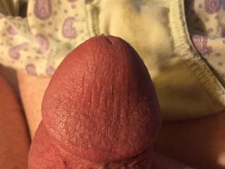 I'd love to suck on the head of your cock