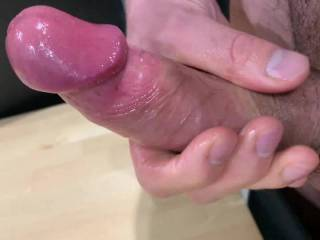 Second cumshot of the day. I thought I\'d take a video to show you how hard my cock gets. Do you like that warm, thick cum at the end of the video?
