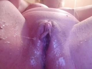 Freshly fucked pussy