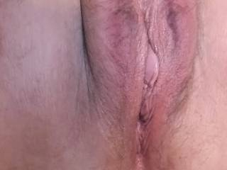 Anyone want to lick a wet, mature pussy?