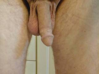 His dick, hanging out, getting in the shower after work . He has an awesome dick. Anyone want to share the shower and play????