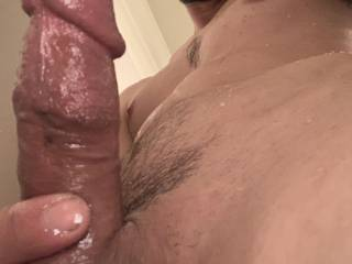 horny in the shower.  Wanna get wet with me?