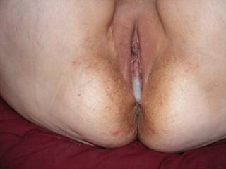 Love cum dripping out her pussy. I would add my load after you are done?