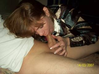 WoW she is such a talent showing off her incredible cock sucking skill...love to go next!