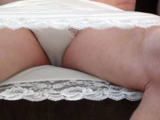Ohh panty lover, love to see your cum all over me and my wife, may I use you like I do my wife x