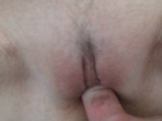 Picture doesn\'t do her justice. Can you see how tight she is? See my white knuckle? Tightest pussy I ever had.